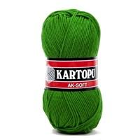 Kartopu Ak-Soft Çimen Yeşili El Örgü İpi - K392