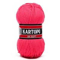 Kartopu Ak-Soft Pembe El Örgü İpi - K771
