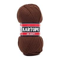 Kartopu Ak-Soft Kahverengi El Örgü İpi - K890