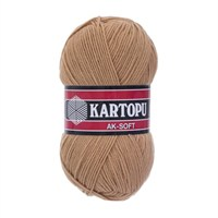 Kartopu Ak-Soft Bej El Örgü İpi - K870