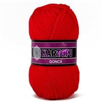 Kartopu Gonca Kırmızı El Örgü İpi - K150