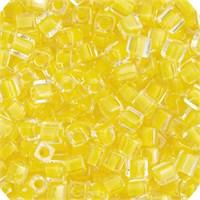 Miyuki Square Cube 3 Mm 1 Tüp Şeffaf Katmanlı Sarı Boncuk - 690Sb03-0202V