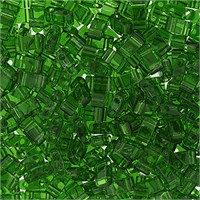 Miyuki Tila Half Cut 5X2.3 Mm 50 Gr. Şeffaf Zümrüt Yeşil Boncuk - 690Htl0-0146