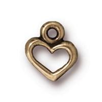 Tierra Cast 1 Adet 9.5X8.25 Mm Altın Rengi Kalp Takı Aksesuarı - 94-2095-27