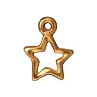 Tierra Cast 1 Adet 13X10.5 Mm Altın Rengi Yıdız Takı Aksesuarı - 94-2106-25