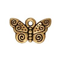 Tierra Cast 1 Adet 9.5X15.5 Mm Altın Rengi Kelebek Takı Aksesuarı - 94-2162-26