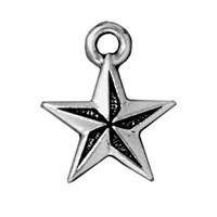 Tierra Cast 1 Adet 18X15 Mm Gümüş Rengi Yıldız Takı Aksesuarı - 94-2299-12