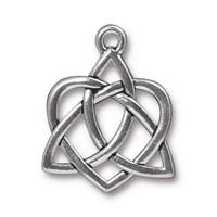 Tierra Cast 1 Adet 26.9X21.2 Mm Gümüş Rengi Sonsuz Kalp Takı Aksesuarı - 94-2390-12