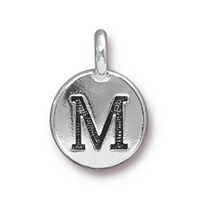 Tierra Cast 1 Adet 16.6X11.6 Mm Gümüş Rengi M Harfi Takı Aksesuarı - 94-240M-12