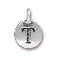 Tierra Cast 1 Adet 16.6X11.6 Mm Gümüş Rengi T Harfi Takı Aksesuarı - 94-240T-12