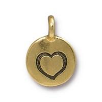 Tierra Cast 1 Adet 16.6X11.6 Mm Altın Rengi Kalp Takı Aksesuarı - 94-2421-26