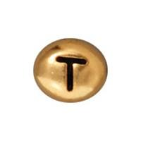 Tierra Cast Metal 1 Adet 6X6.75 Mm Altın Rengi T Harfi Aksesuar Boncuk - 94-510T-26