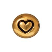 Tierra Cast Metal 1 Adet 6.25X7 Mm Altın Rengi Kalp Aksesuar Boncuk - 94-5115-26