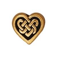 Tierra Cast Metal 1 Adet 8.75X9.5 Mm Altın Rengi Kalp Aksesuar Boncuk - 94-5549-26