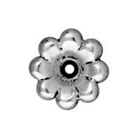 Tierra Cast 1 Adet 5X11.5 Mm Gümüş Rengi Çiçek Boncuk Şapkası - 94-5589-12