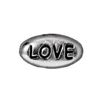 Tierra Cast Metal 1 Adet 6X10.75 Mm Gümüş Rengi Love Aksesuar Boncuk - 94-5640-60