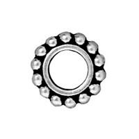 Tierra Cast 1 Adet 9X9 Mm Gümüş Rengi Yuvarlak Çerçeve Takı Ara Aksesuarı - 94-5652-12