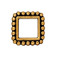 Tierra Cast 1 Adet 11.5X14.25 Mm Altın Rengi Kare Çerçeve Takı Ara Aksesuarı - 94-5655-26