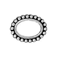 Tierra Cast 1 Adet 14.75X11.25 Mm Gümüş Rengi Oval Çerçeve Takı Ara Aksesuarı - 94-5660-12
