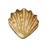 Tierra Cast Metal 1 Adet 13.25X13.5 Mm Altın Rengi Deniz Kabuğu Boncuk - 94-5679-25