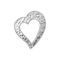 Tierra Cast 1 Adet 5X27 Mm Gümüş Rengi Kalp Takı Aksesuarı - 94-6122-61