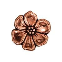 Tierra Cast 1 Adet 15.75X5 Mm Bakır Rengi Çiçek Aksesuar Düğme - 94-6549-18
