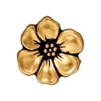 Tierra Cast 1 Adet 15.75X5 Mm Altın Rengi Çiçek Aksesuar Düğme - 94-6549-26