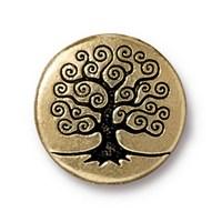 Tierra Cast 1 Adet 15.82 Mm Altın Rengi Ağaç Aksesuar Düğme - 94-6562-26