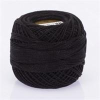 Ören Bayan Koton Perle No:8 Siyah El Nakış İpliği - Siyah