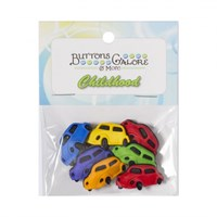 Kartopu Arabalar Şeklinde Dekoratif Düğme - 4086