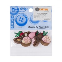 Kartopu Çikolata Şeklinde Dekoratif Düğme - 7871