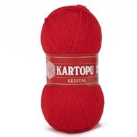 Kartopu Kristal Kırmızı El Örgü İpi - K150