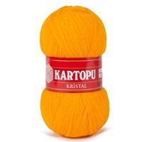 Kartopu Kristal Hardal Sarı El Örgü İpi - K312