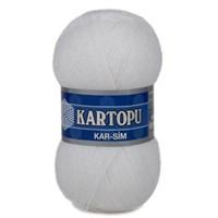 Kartopu Kar-Sim Beyaz El Örgü İpi - K010