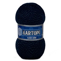 Kartopu Kar-Sim Koyu Mavi El Örgü İpi - K632