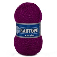 Kartopu Kar-Sim Mor El Örgü İpi - K732