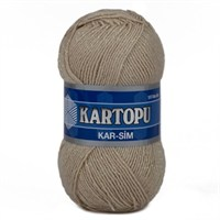 Kartopu Kar-Sim Bej El Örgü İpi - K861