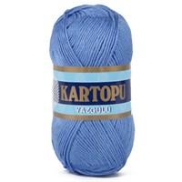 Kartopu Yazgülü Açık Mavi El Örgü İpi - K535