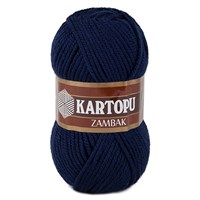 Kartopu Zambak Lacivert El Örgü İpi - K632