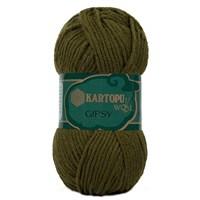 Kartopu Gipsy Koyu Yeşil El Örgü İpi - K410