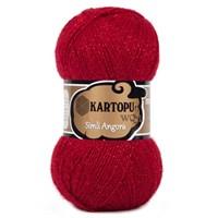 Kartopu Simli Angora Kırmızı El Örgü İpi - K122