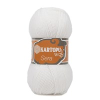 Kartopu Sera Beyaz El Örgü İpi - K010