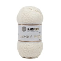 Kartopu Lamb's Wool Beyaz El Örgü İpi - K025