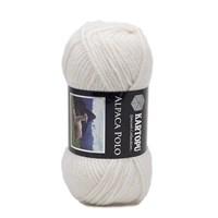 Kartopu Alpaca Polo Beyaz El Örgü İpi - K010