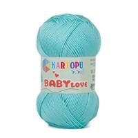 Kartopu Baby Love Açık Mavi Bebek Yünü - K506