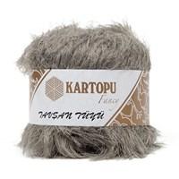 Kartopu Tavşan Tüyü Gri El Örgü İpi - Kf3003