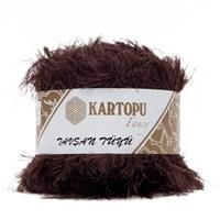 Kartopu Tavşan Tüyü Kahverengi El Örgü İpi - Kf3009