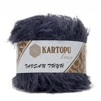 Kartopu Tavşan Tüyü Gri El Örgü İpi - Kf301