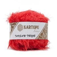 Kartopu Tavşan Tüyü Kırmızı El Örgü İpi - K812