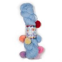 Kartopu Bebe Pompon Mavi Bebek Yünü - K544